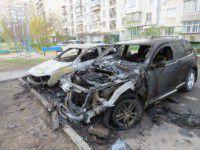 В Мелитополе за ночь сгорели три иномарки, припаркованные рядом