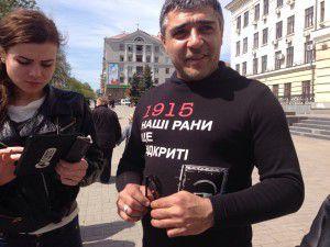 Наші рани ще відкриті: В Запорожье армяне отметили 100-летнюю годовщину геноцида
