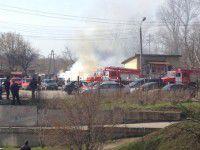 Фотофакт: В Запорожье взорвалась машина
