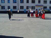 Запорожские казаки учили одесских военных приемам боя