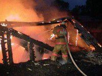 В Запорожской области сгорел дом переселенцев