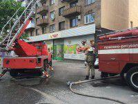 В центре Запорожья тушили пожар (Фото, Видео)