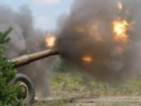 Запорожские артиллеристы уничтожили в зоне АТО машину с террористами