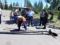 В Бердянске прорвало канализацию