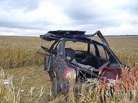 На запорожской трассе беженцы попали в аварию