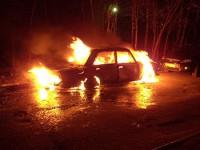 В Запорожской области «Жигули» слетели в кювет и загорелись