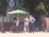 В Запорожье отдыхающие вызвали милицию, чтобы поделить грибок