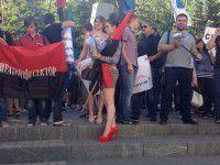 В Запорожье митинговали против назначения нового начальника УБЭПа (Фото)