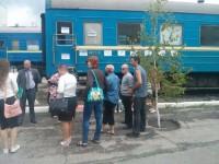 В Запорожье на вокзале митингуют проводники