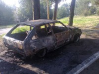 В Мелитополе рано утром дотла сгорела «Таврия»