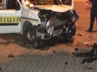 В центре Запорожья милицейский автомобиль врезался в легковушку