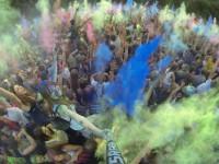 Фестиваль красок в Запорожье с высоты  птичьего полета (Видео)