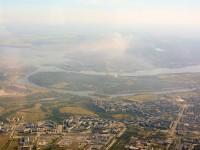 Пилот снял с высоты птичьего полета разноцветный воздух Запорожья (Фото)
