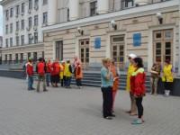 Под запорожскую мэрию вышли митинговать дворники