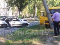 В Мелитополе маршрутка попала в ДТП — есть пострадавшие