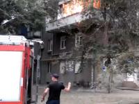 Очевидец сняли пожар в запорожской многоэтажке (Видео)
