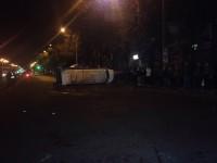 Фото с места аварии маршрутки в центре Запорожья