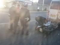 Мотоциклист врезался в маршрутку