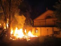 Появились фото с места пожара волонтерского центра