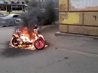Житель Запорожской области поджег скутер друга
