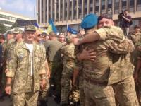 День рождения запорожского батальона: крепкие объятия и панихида по погибшим (Фото)