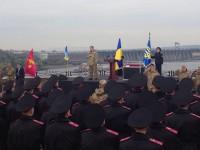 Фото дня: В Запорожье Порошенко принял присягу у лицеистов (Обновлено)