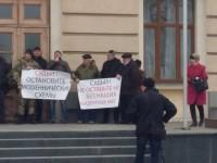 Под стенами запорожской мэрии митинговали обманутые вкладчики «Константы»