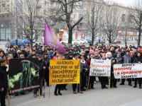 Запорожских депутатов сотни предпринимателей встретили митингом под мэрией