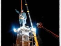 Историческое видео: В Запорожье работа по сносу Ленина кипит даже ночью