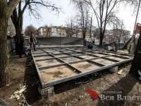 В центре Запорожья демонтировали незаконный МАФ