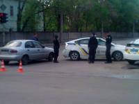 В Запорожье полицейские попали в аварию