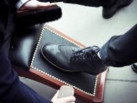 В Киеве возродили ручную чистку обуви