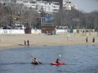 У запорожцев пытались украсть часть центрального пляжа