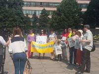 В Запорожье журналисты вышли на митинг