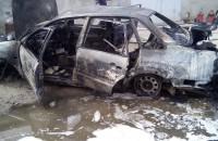 В Запорожской области на территории гаражей сгорело авто