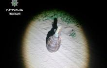 В Запорожье посреди дороги нашли гранату