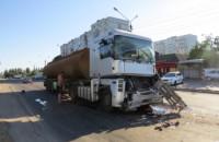 В Запорожской области столкнулись два бензовоза