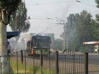 В Запорожье на ходу задымился троллейбус с пассажирами