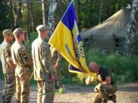 Основатель 37-ого батальона передал знамя новому комбату