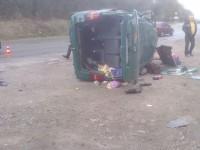 В аварии на въезде в Запорожье погиб пассажир маршрутки