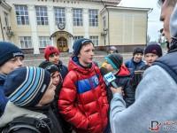 В Запорожье митинговали под стадионом за права юных футболистов
