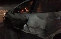 Запорожский журналист слетел в кювет на скользкой дороге (Фото)