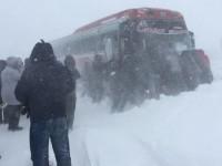 На запорожской трассе застрял автобус с пассажирами