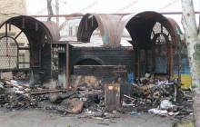 В Запорожской области сгорел павильон (фото)