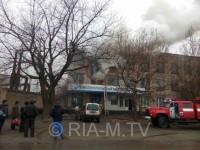 В Запорожской области горел завод по производству автомоторов