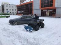 Жители Запорожской области придумали необычный способ уборки снега (Видео)