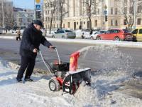 В Запорожье заммэра убирал снег под окнами шефа  (Видео)