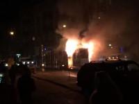 В Шевченковском районе загорелся трамвай (видео)