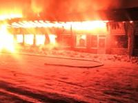 Спасатели опубликовали фото с места пожара в кафе под Запорожьем
