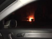 В Запорожской области дотла выгорел BMW-X5 (Видео)